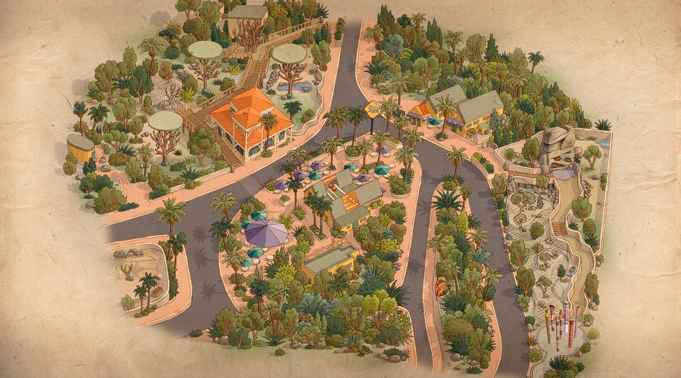 Koalafornia Dreamin - San diego zoo map