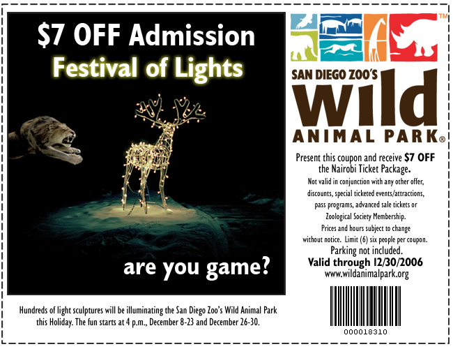 San diego zoo membership discount coupon